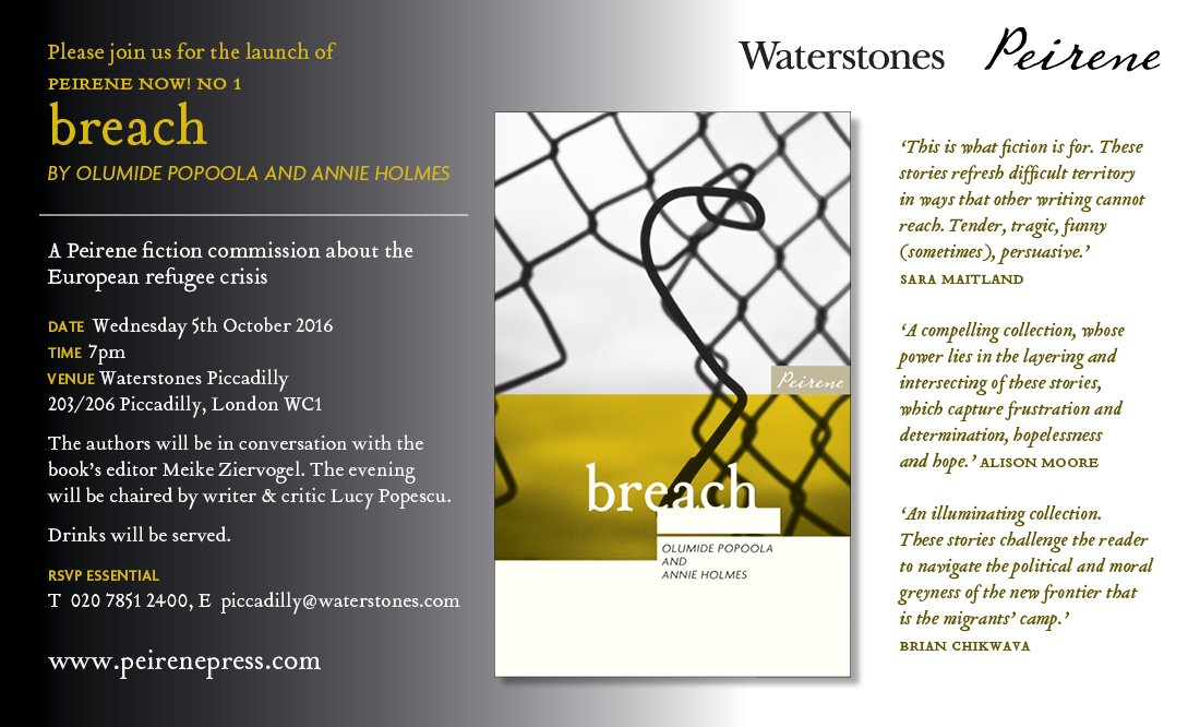 London launch of breach – 5 October